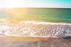 Beautiful sunset at Beach of South Venice. Florida. Natural background Royalty Free Stock Photo