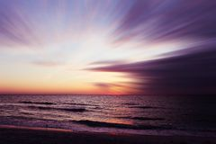 Beautiful sunset at Beach of South Venice. Florida. Natural background Royalty Free Stock Photography