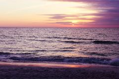 Beautiful sunset at Beach of South Venice. Florida. Natural background Stock Photo