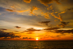 Beautiful sunset on the beach , Thailand. Stock Photo