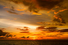 Beautiful sunset on the beach in Thailand. Stock Images