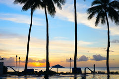 Beautiful sunset at beach Stock Image