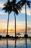 Beautiful sunset at beach Stock Images