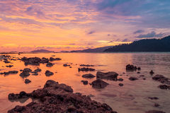 Beautiful sunset on the beach. Royalty Free Stock Images