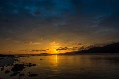 Beautiful sunset on the beach. Royalty Free Stock Image