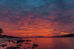 Beautiful sunset on the beach. Stock Photos