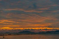 Beautiful sunset on the beach. Stock Photo