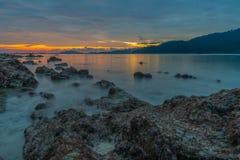 Beautiful sunset on the beach. Royalty Free Stock Photo