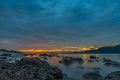 Beautiful sunset on the beach. Royalty Free Stock Photos