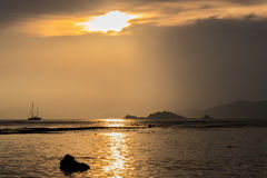 Beautiful sunset on the beach. Royalty Free Stock Photography