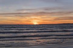 Beautiful sunset on the beach Royalty Free Stock Photos