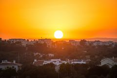 Beautiful sunset. Royalty Free Stock Photo