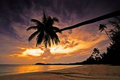 Beautiful Sunset in Bintan Island Stock Photo