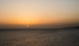 Beautiful sunset on the Black Sea. Sunset on the Black Sea Stock Images