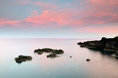 Beautiful sunset. Sunset beautiful sunset in blue and pink royalty free stock image