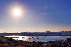 Beautiful sunset in Bodrum Stock Photography