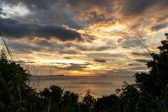 Beautiful sunset in the Busuanga Island. Palawan stock photography