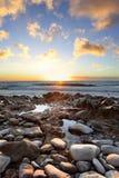 Beautiful sunset at Canary Islands Stock Image