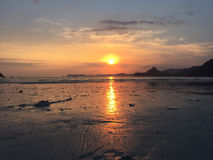 Beautiful sunset. Captured from Selong Belanak Beach, Lombok Island, Indonesia Royalty Free Stock Photos