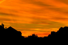 Beautiful sunset in the city Royalty Free Stock Photography