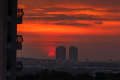Beautiful Sunset in the City Stock Photos