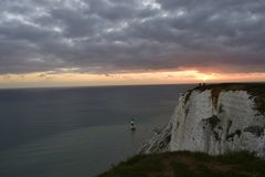 A beautiful sunset from a cliffs Royalty Free Stock Photo