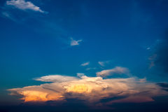 Beautiful sunset cloud in the sky.  Royalty Free Stock Photography