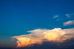 Beautiful sunset cloud in the sky.  royalty free stock photo