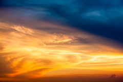 Beautiful sunset cloud in the sky.  Stock Photo