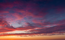 Beautiful sunset clouds Royalty Free Stock Images