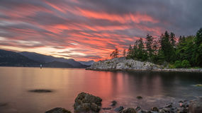Beautiful Sunset Clouds at Whycliff park Royalty Free Stock Photography