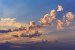 Beautiful sunset cloudy sky Stock Images
