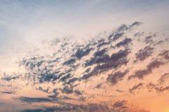 Beautiful sunset cloudy sky Stock Photo