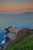 Beautiful Sunset of Coast Stock Photo