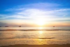 Beautiful sunset on coast of Siam Gulf. Nature. Beautiful sunset on coast of Siam Gulf. Travel Royalty Free Stock Image