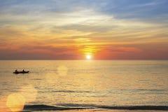 Beautiful sunset on the coast in the subtropics. Nature. Stock Photography