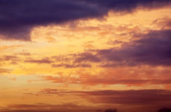 Beautiful sunset colorful sky. Royalty Free Stock Photography