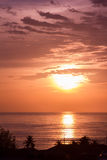 Beautiful sunset coming Royalty Free Stock Photo