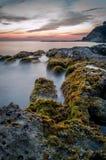 Beautiful sunset in Corfu Greece Europe.  Stock Photography