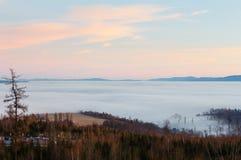 Beautiful sunset country view. Stock Photo