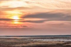 Beautiful sunset in Crimea Stock Photos