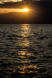 Beautiful sunset in croatia royalty free stock photo