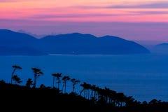 Beautiful sunset on the Croatian islands Stock Image