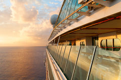 Beautiful sunset from the cruise ship Stock Photography