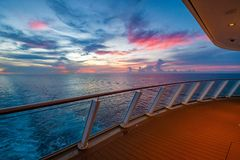 Sunset From A Cruise Ship Royalty Free Stock Images