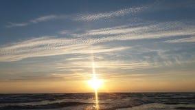 Beautiful sunset. The dark sea beautiful sunset Royalty Free Stock Photos