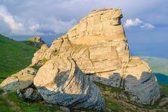Beautiful Sunset in the Demerdzhi Mountains. Crimea, Ukraine Royalty Free Stock Photography