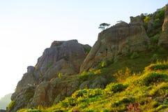 Beautiful Sunset in the Demerdzhi Mountains. Crimea, Ukraine Stock Images