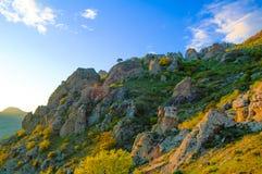 Beautiful Sunset in the Demerdzhi Mountains. Crimea, Ukraine Royalty Free Stock Image