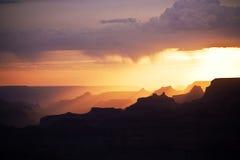 Beautiful sunset at desert view Stock Image